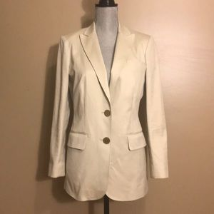 Tory Burch Cotton Long Cream Blazer Jacket size 6
